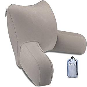 HOMCA Reading Pillow, Inflatable Bed Rest Pillow with Armrest Great as Backrest for Adults