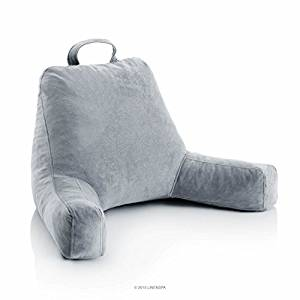LINENSPA Shredded Foam Reading Pillow - Perfect for Back Support while Relaxing