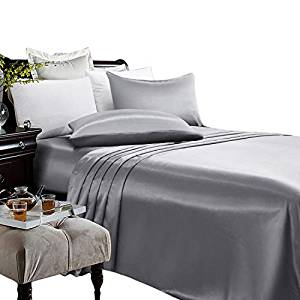 Artall Super Soft 4-Piece Silky Satin Sheet Set