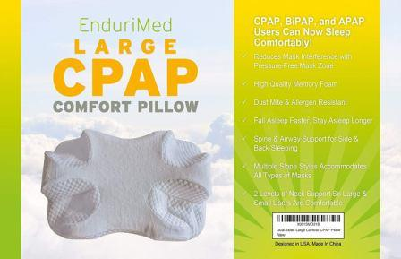 CPAP Pillow – Memory Foam Contour Design Reduces Face Mask Pressure & Air Leaks