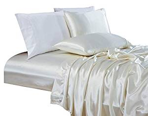 Chezmoi 4-Piece Bridal Satin Collection Sheet Set