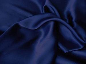 Chezmoi Soft Silky Satin Solid Navy Blue 4-Piece Collection