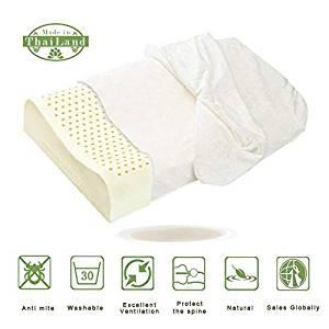 Contoured Pillows, ALPHA LATEX Thailand Natural Latex Organic Pillow