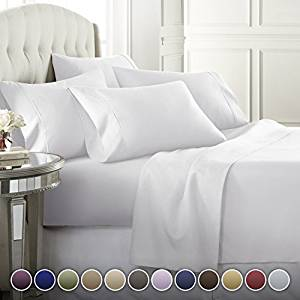 Dajor Linens 6 Piece 1800 Series Luxury Premium Bed Sheets Set