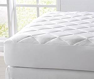 Great Bay Home Cooling Mattress Pad. Extra Plush Hypoallergenic Topper with Cooling Fibers