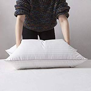L LOVSOUL White Goose Down and Feather Bed Pillows – Three Chambers Design
