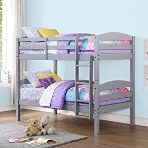 Mainstays Grey Twin over Twin Bunk Bed