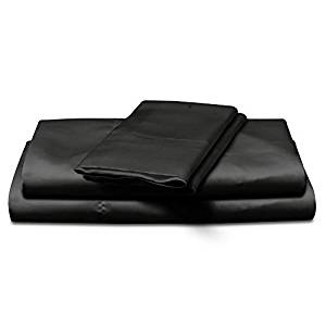 Natural Life 4 Piece Satin Sheet Set, Queen