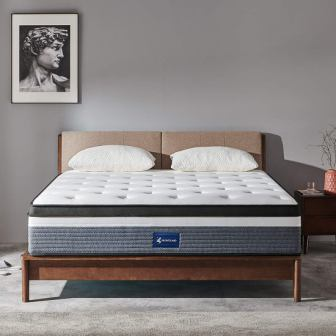 Queen Mattress, 12 Inch Memory Foam Mattress with Individually Wrapped Innerspring