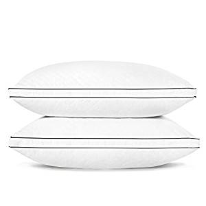 SONGMICS Pillows for Sleeping (Standard 2 Pack), Adjustable Bed Pillow, Relief for Neck Pain