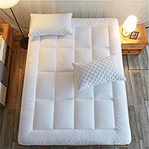 Shilucheng Overfilled King Mattress Pad Cover Fit 8-21 Deep Pocket Mattress Pillow to Cooling Mattress Topper