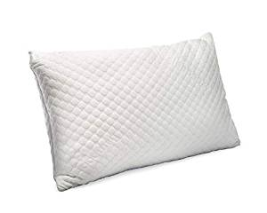Simply Sova – Premium Bamboo Shredded Memory Foam Pillow – Side Sleeper Pillow for Neck and Shoulder Pain – Hypoallergenic & Adjustable Loft with Washable Cover – Queen Size Pillow