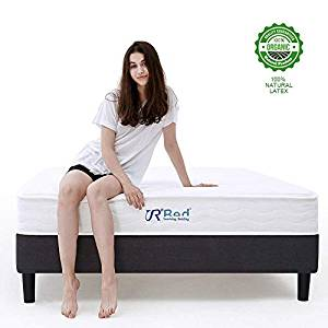 Sunrising Bedding 8-inch Queen Size Natural Latex Hybrid Coil Spring Mattress