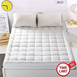 """WARM HARBOR Mattress Pad Cover King Size Mattress Topper with 18"""" Deep Pocket Pillow top"""