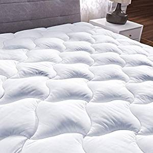 YOUMAKO Quilted Fitted Mattress Pad Cover Pillow top Overfilled cooling 8-21 Inch Deep Pocket Bed Topper