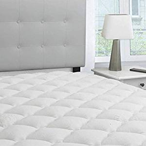 eLuxurySupply Rayon From Bamboo Extra Thick Mattress Pad with Fitted Skirt