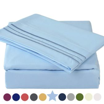 1800 Thread Count Premium 4 Piece Bed Sheet Set by TEKAMON