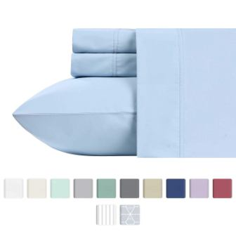 600 Thread Count Best Bed Sheets by California Design Den