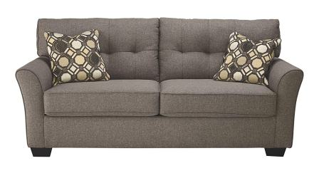 Ashley Furniture Signature Design – Tibbee Full Sofa Sleeper – Sleek Tailored Couch with Pull Out – Slate