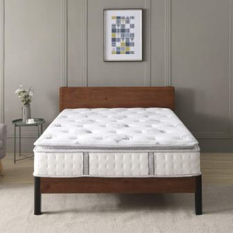 Classic Brands 12-Inch Mercer Pillow-Top Cool Gel Memory Foam and Innerspring Hybrid Mattress