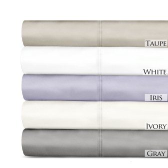Contemporary Style Luxurious 100% Micro Tencel 600 Thread Count 4-Piece Bedroom Sheet Set from Veratex