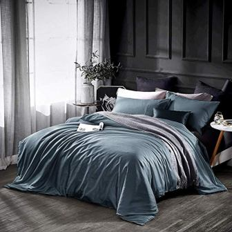 Dazzfond Egyptian Cotton 3 Piece Duvet Cover Queen Luxury Bedding Set