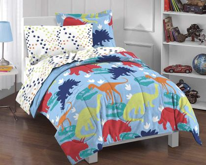 Dinosaur Prints Boys Comforter Set, Multi-Colored from Dream Factory