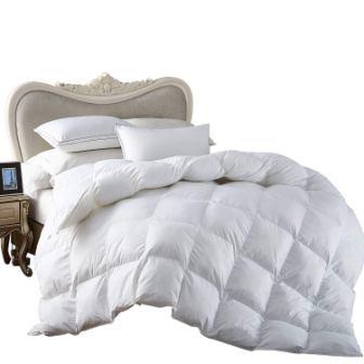 Egyptian Bedding All-Season King Size Luxury Siberian Goose Down Comforter Duvet Insert