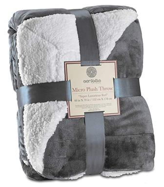 Genteele Super Soft Luxurious Sherpa Throw Blanket