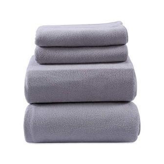 Heavyweight Polar Fleece Sheets Fleece, Queen, Moonbeam from Berkshire Blanket