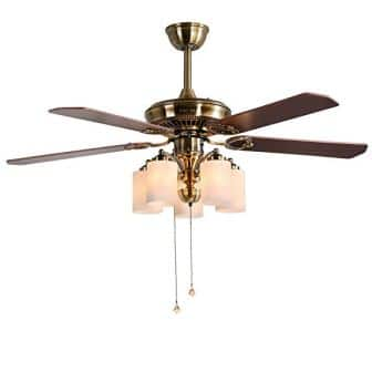 Indoor Ceiling Fan Light Fixtures – FINXIN FXCF07 (2018 New Design) Vintage New Bronze Remote LED 52 Ceiling Fans