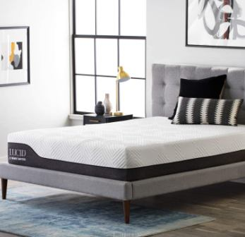 Lucid 12-Inch Hybrid Mattress with Bamboo Charcoal and Aloe Vera-Infused Memory Foam