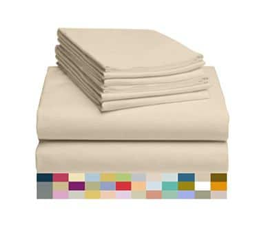 LuxClub 6 PC Sheet Set