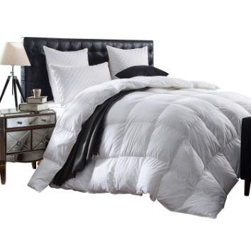 Luxurious 1200 Thread Count Goose Down Comforter Duvet Insert