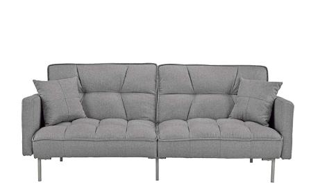 Modern Plush Tufted Linen Fabric Sleeper Futon by Divano Roma Furniture