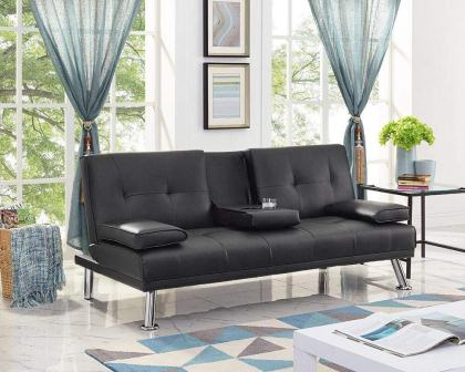 Naomi Home Futon SofaBed with Armrest