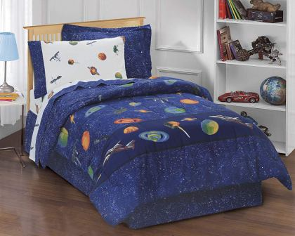 Outer Space Satellites Boys Comforter Set from Dream Factory