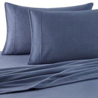 Oversized Microloft Softer Sleep Sheet Set (Blue, Queen) from Berkshire Blanket