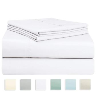 Pizuna's 400 Thread Count 100% Long Staple Cotton Twin Sheet Set