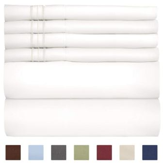 Queen Size Sheet Set – 6 Piece Set – Hotel Luxury Bed Sheets