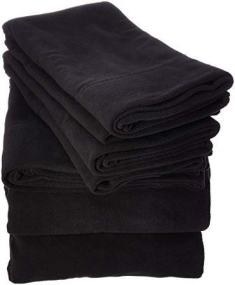 SHET20-733 Fleece Sheet Set Queen Black from Peak Performance