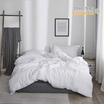 Simple & Opulence 100 % Stone Washed Linen Duvet Cover Set
