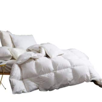 Snowman White Goose Down & Feather Blend Comforter