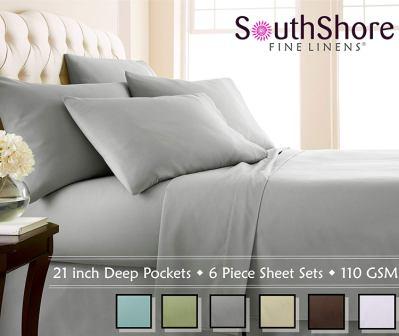 Southshore Fine Linens Extra Deep Pocket Sheet Set