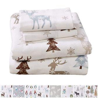 Stratton Collection Extra Soft Printed 100% Turkish Cotton Flannel Sheet Set from Home Fashion Designs