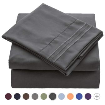 VEEYOO 1800 Thread Count Microfiber Bed Sheets Set