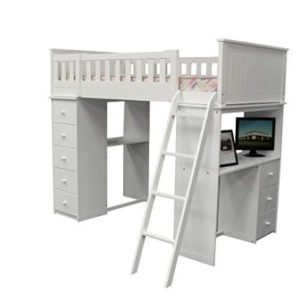 ACME WILLOUGHBY WHITE LOFT BED