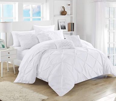 Chic Home Hannah Pinch Pleated 10 Piece King Comforter Set