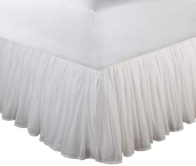 Cotton Voile Dust Ruffle – Greenland Home
