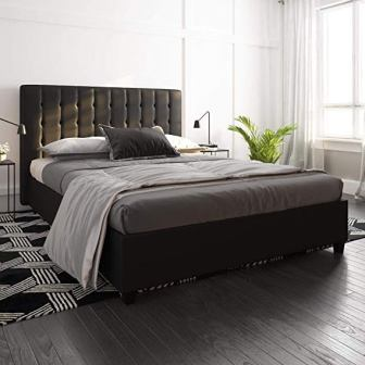 DHP Emily Upholstered Faux Leather Platform Bed